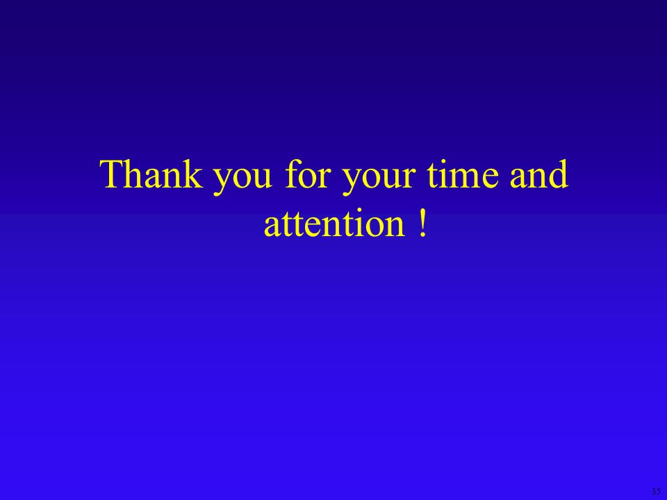 35 Thank you for your time and attention !