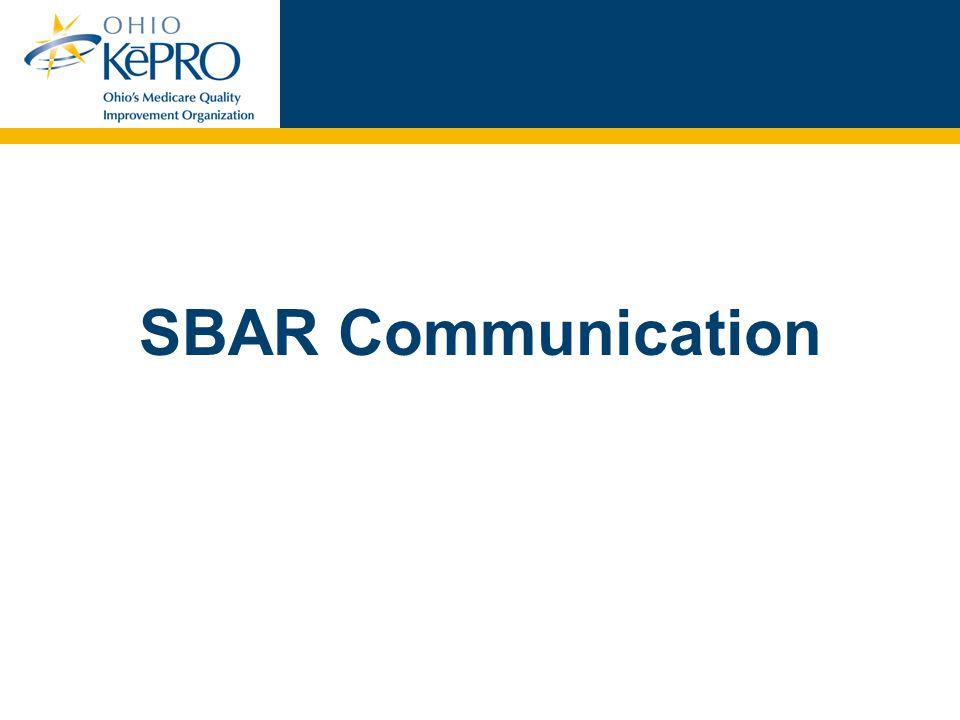 12 Why do we need SBAR.