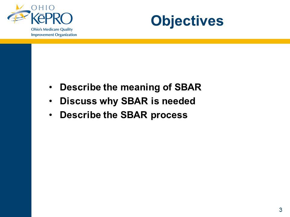 14 Why SBAR.