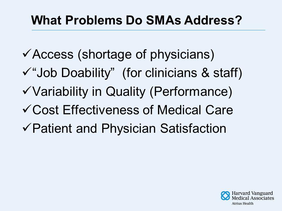 What Problems Do SMAs Address.