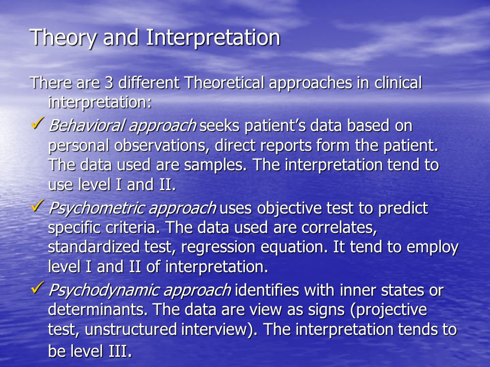 Communication: the clinical report The clinical report is a communication phase of the assessment process.