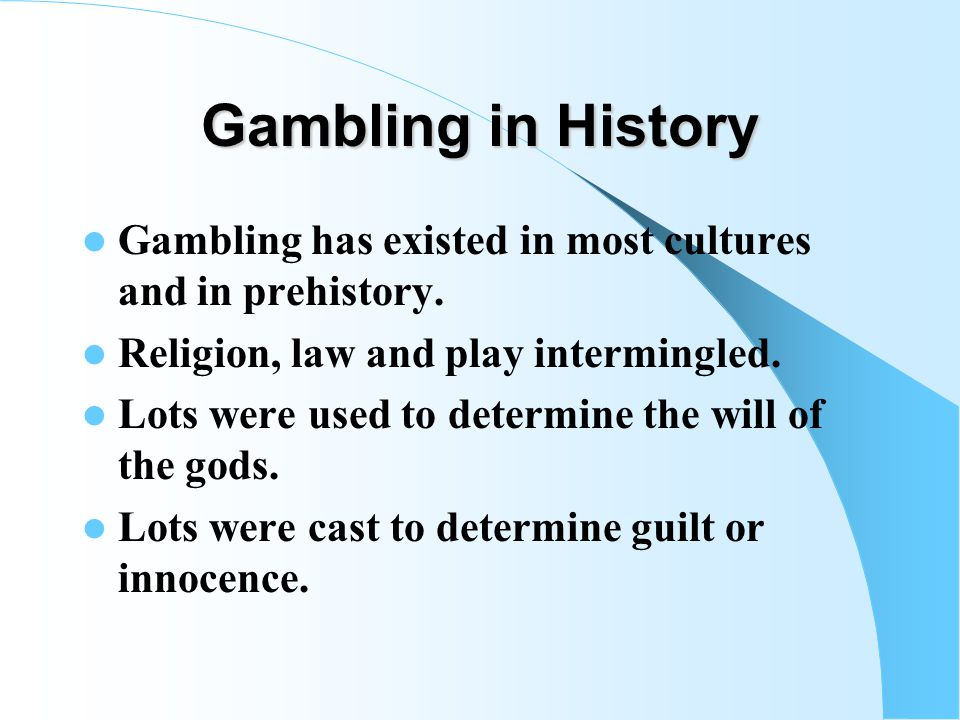 Major Questions to be Addressed What was known about problem gambling before The Chase.