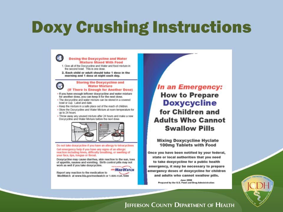 Doxy Crushing Instructions