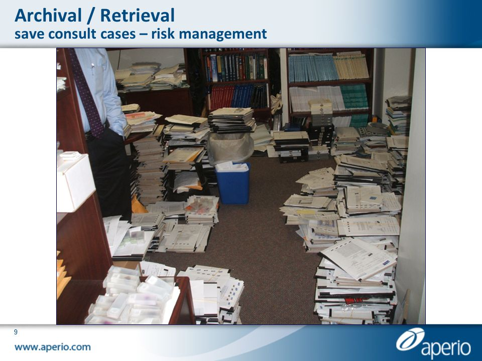 99 Archival / Retrieval save consult cases – risk management