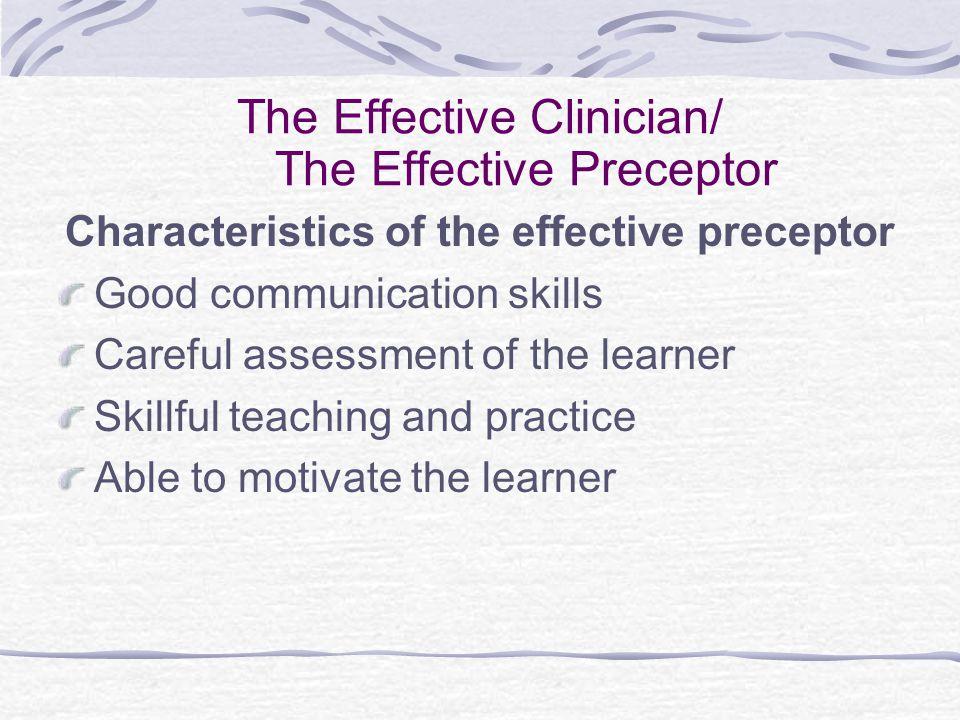 The Effective Preceptor Communication Skills