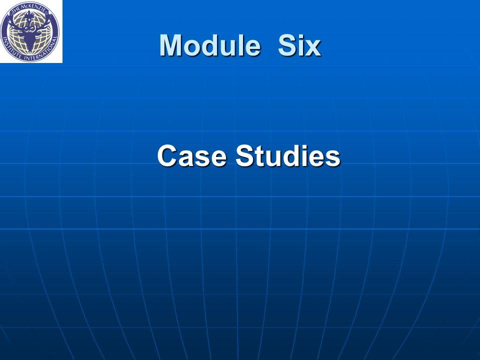 Module Six Case Studies