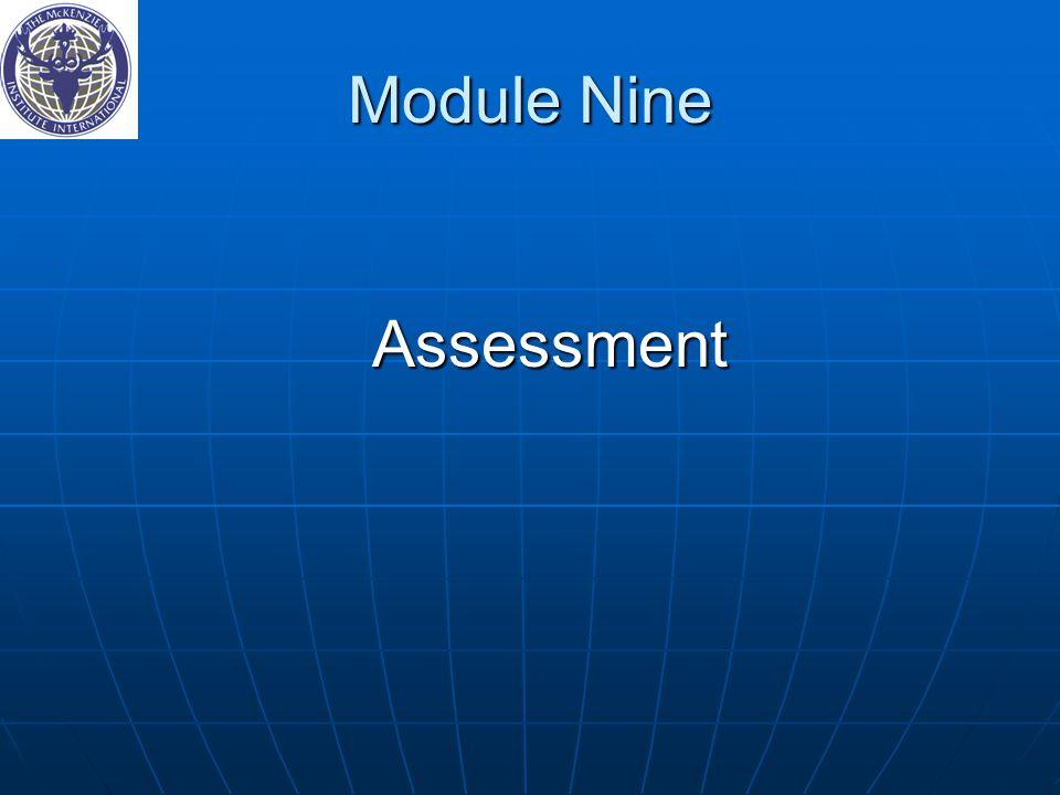 Module Nine Assessment