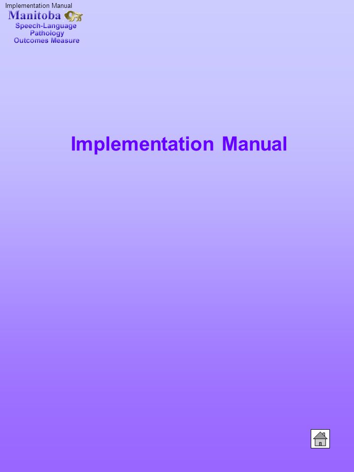 Implementation Manual