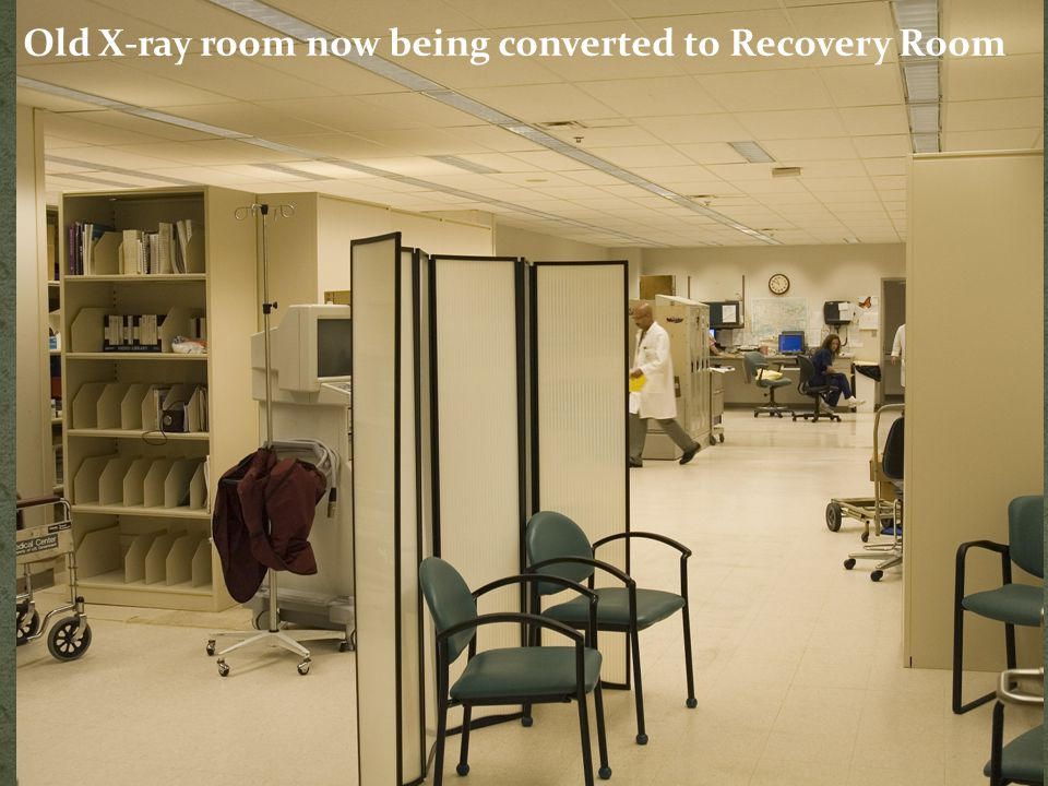 Old X-ray room now being converted to Recovery Room