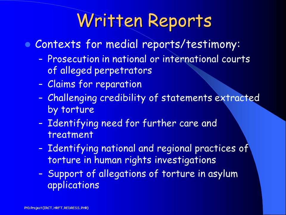 Guidelines for Medical Reports 10.Diagnostic test results 11.