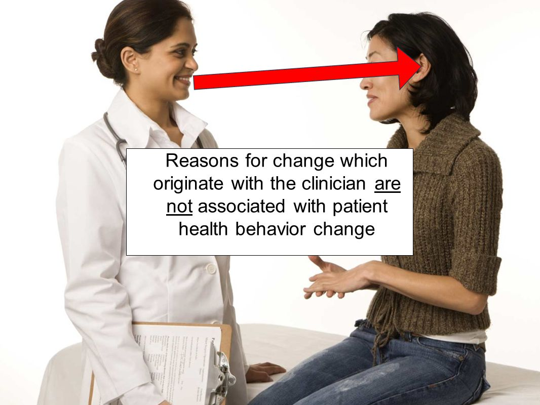 Reasons for change which originate with the clinician are not associated with patient health behavior change
