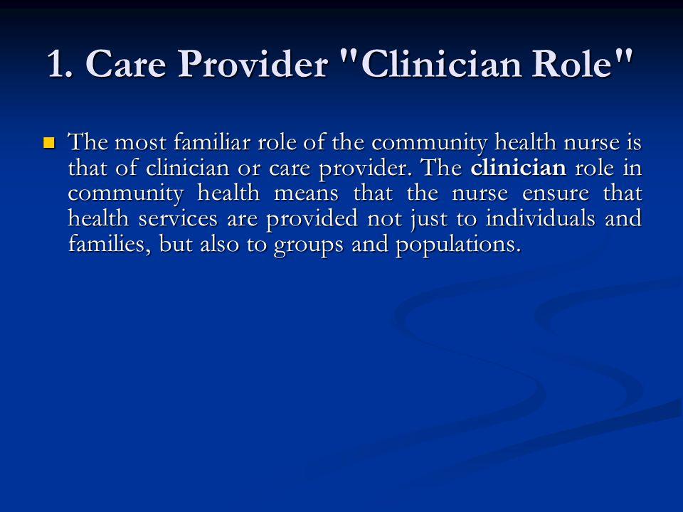 1. Care Provider