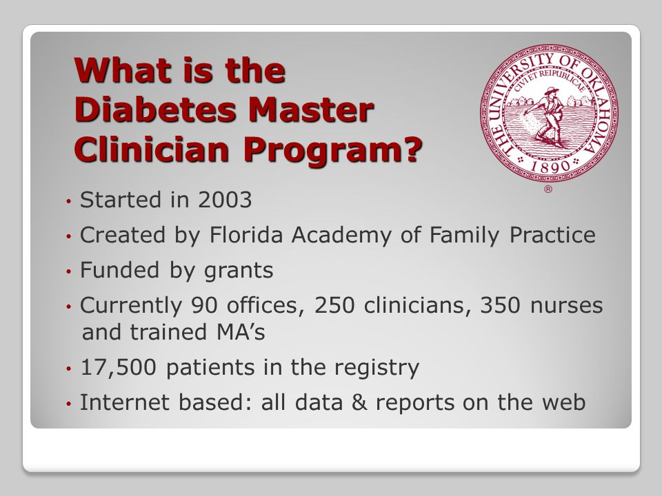 What is the Diabetes Master Clinician Program.
