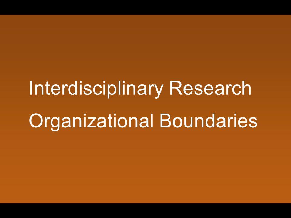 Interdisciplinary Research Organizational Boundaries