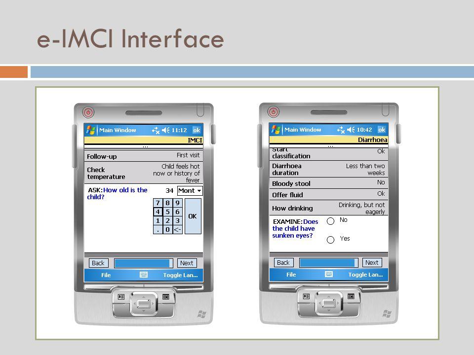 e-IMCI Interface