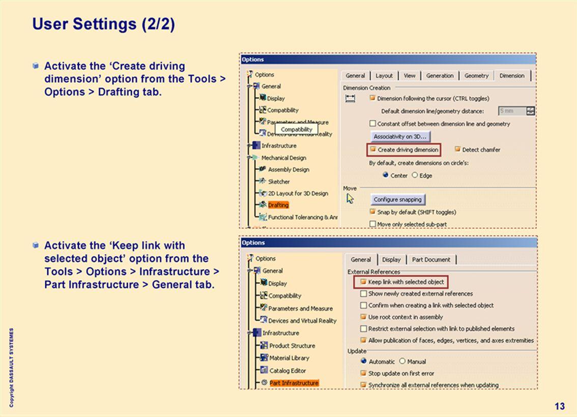 Copyright DASSAULT SYSTEMES 13