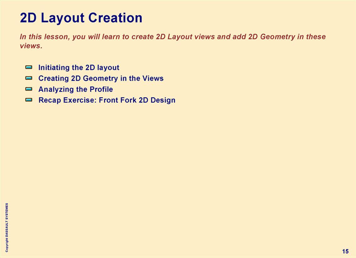 Copyright DASSAULT SYSTEMES 15