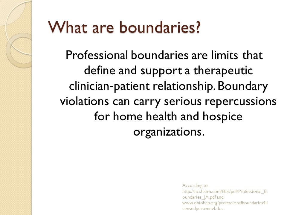 What are boundaries.