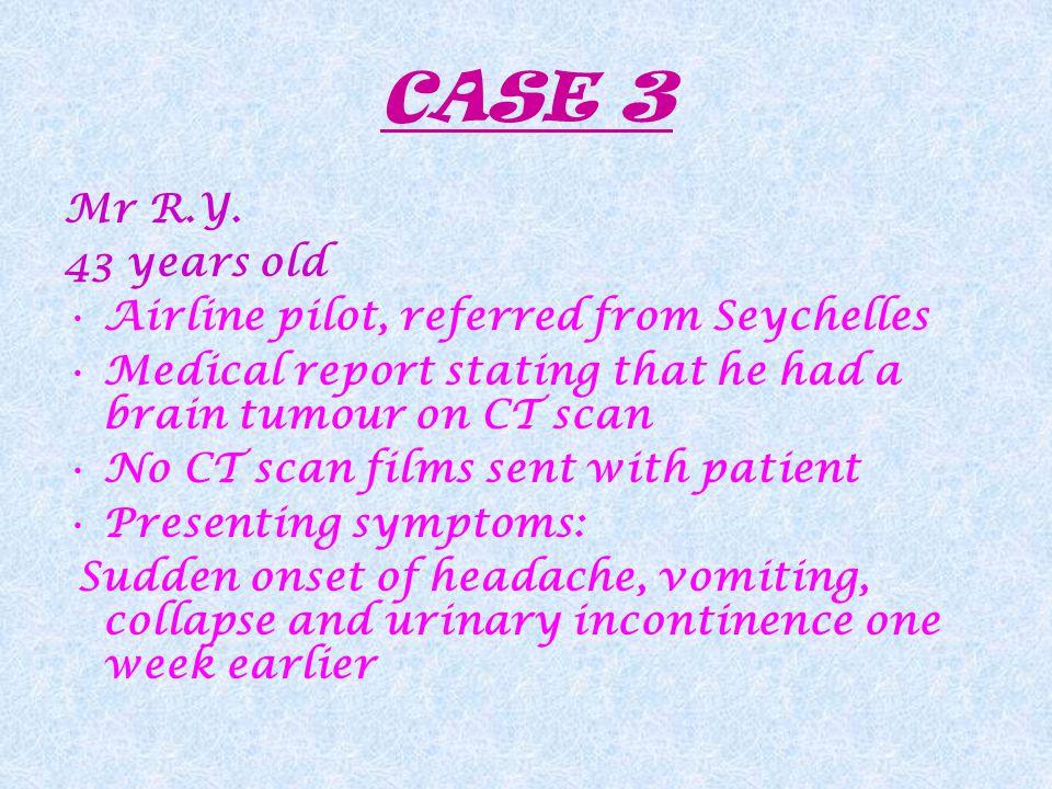 CASE 3 Mr R.Y.