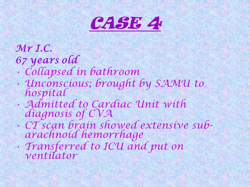CASE 4 Mr I.C.