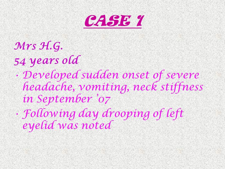 CASE 1 Mrs H.G.