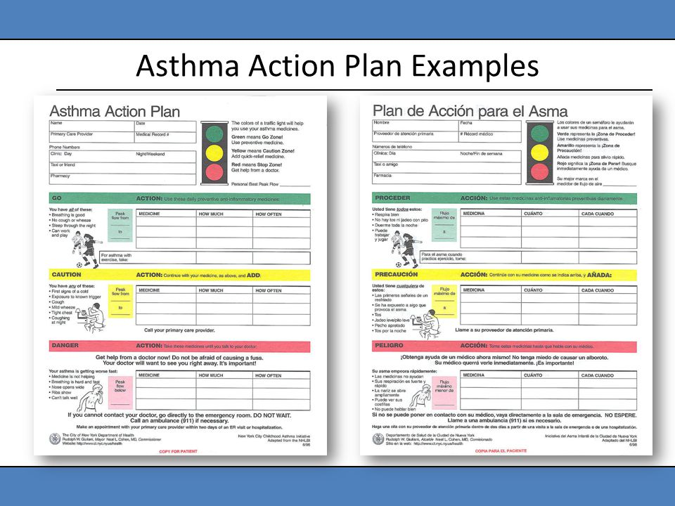 Asthma Action Plan Template  ContegriCom