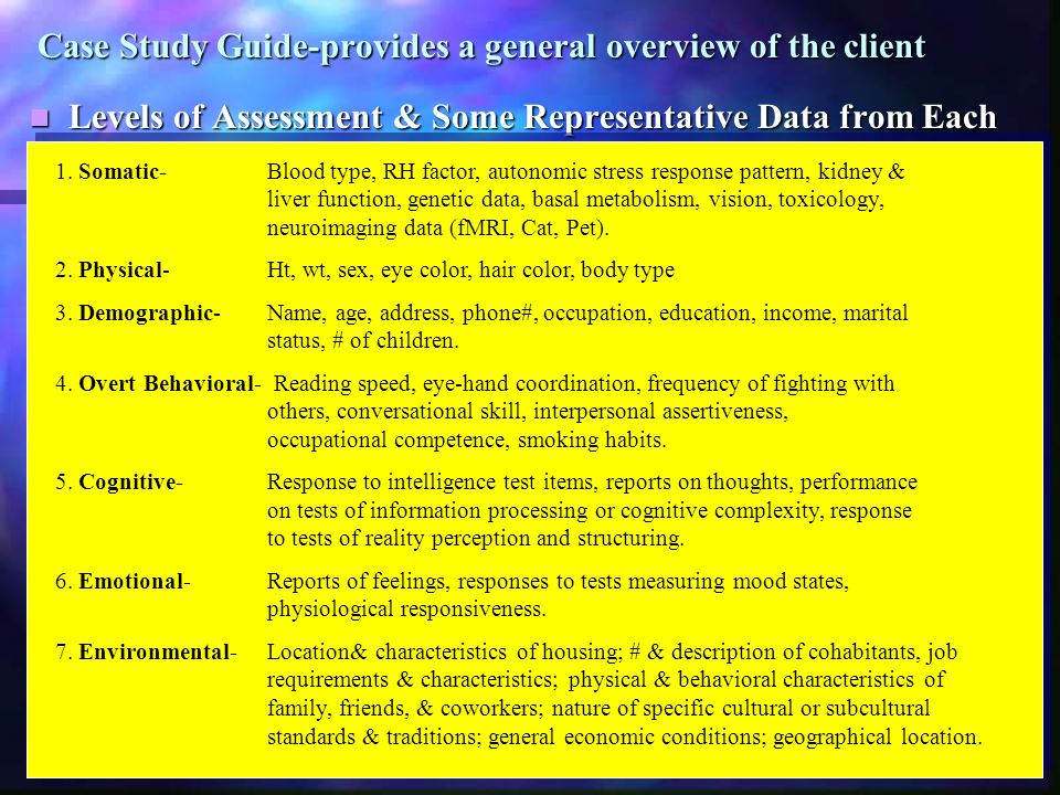 Factors Guiding Assessment Choices 1.