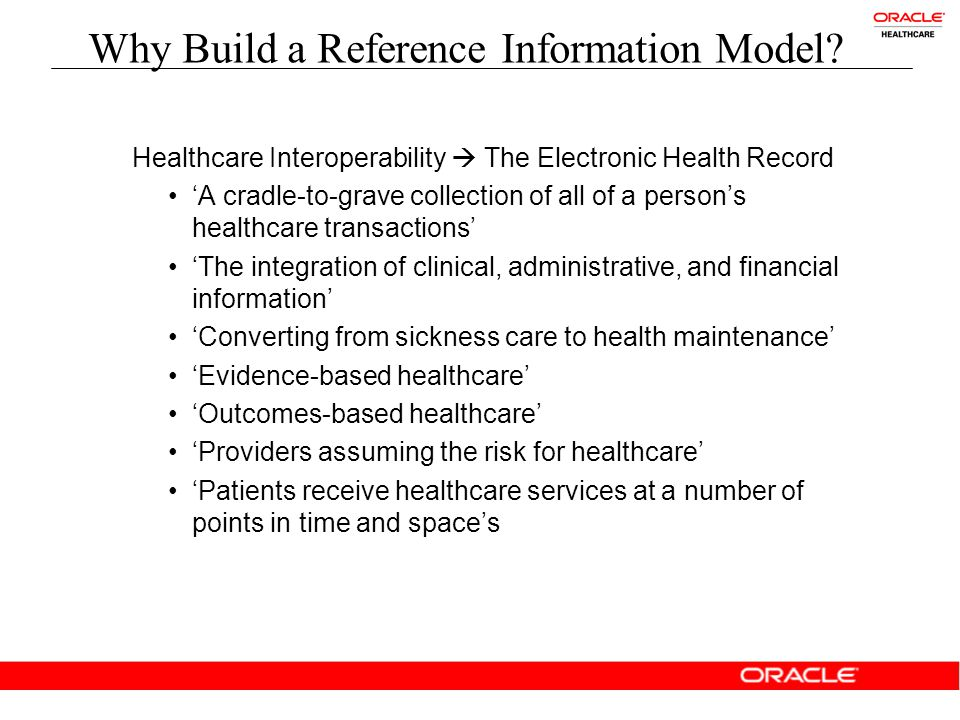 Why Build a Reference Information Model.
