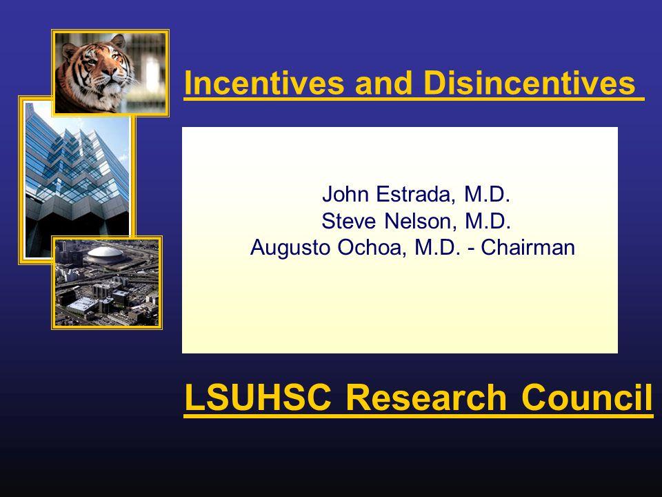 John Estrada, M.D. Steve Nelson, M.D. Augusto Ochoa, M.D.