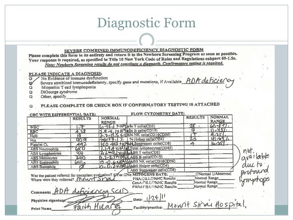 Diagnostic Form