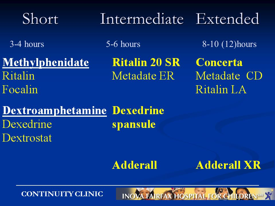 CONTINUITY CLINIC Short Intermediate Extended 3-4 hours 5-6 hours8-10 (12)hours