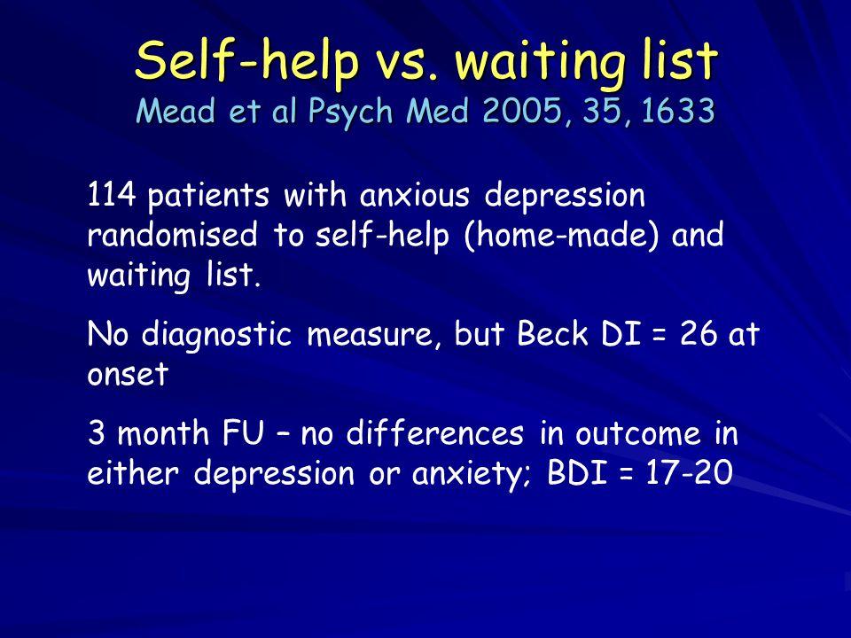 Self-help vs.