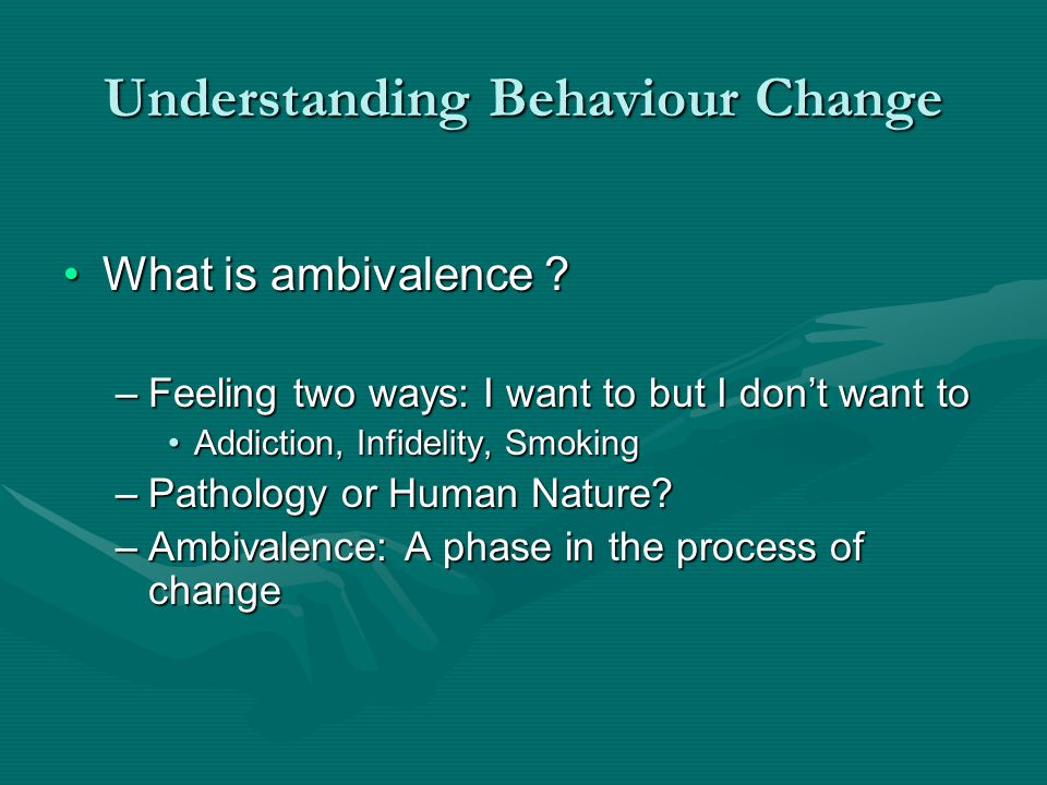 What is my role as a health professional .Behaviour change agent ?Behaviour change agent .