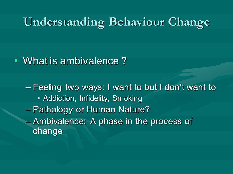 Understanding Behaviour Change What is ambivalence ?What is ambivalence .