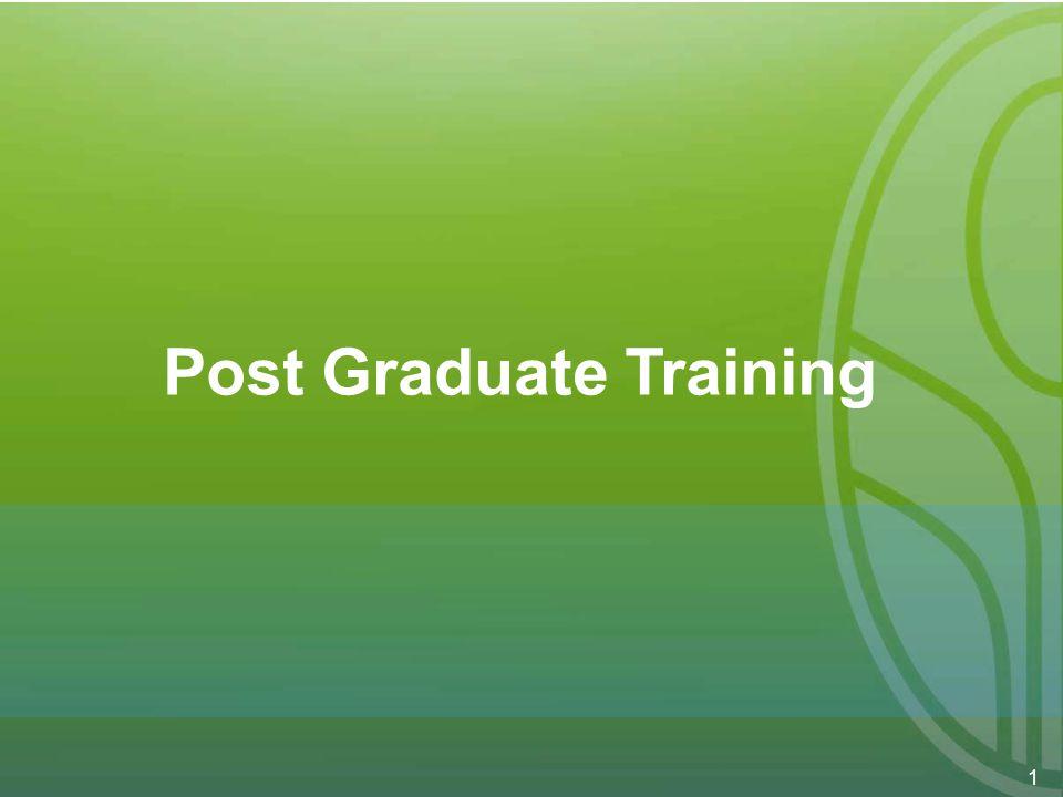 1 Post Graduate Training