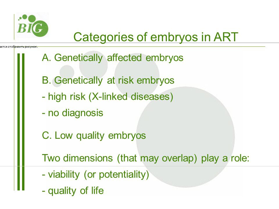A. Genetically affected embryos B.