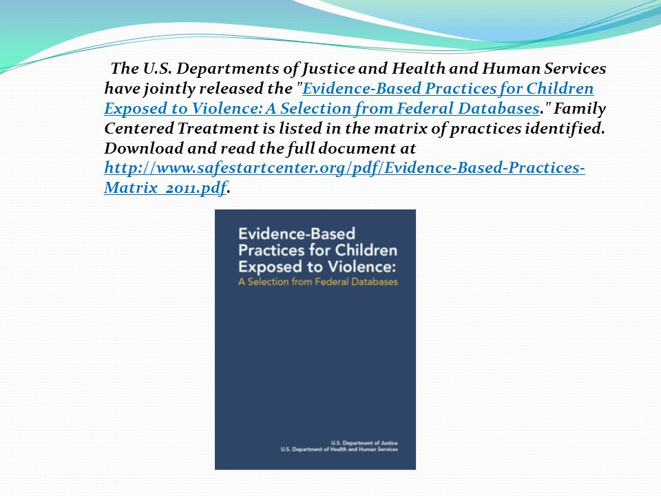 The U.S. Departments of Justice and Health and Human Services have jointly released the