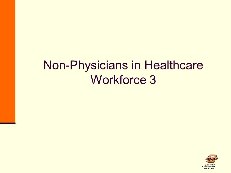 Non-Physicians in Healthcare Workforce 3