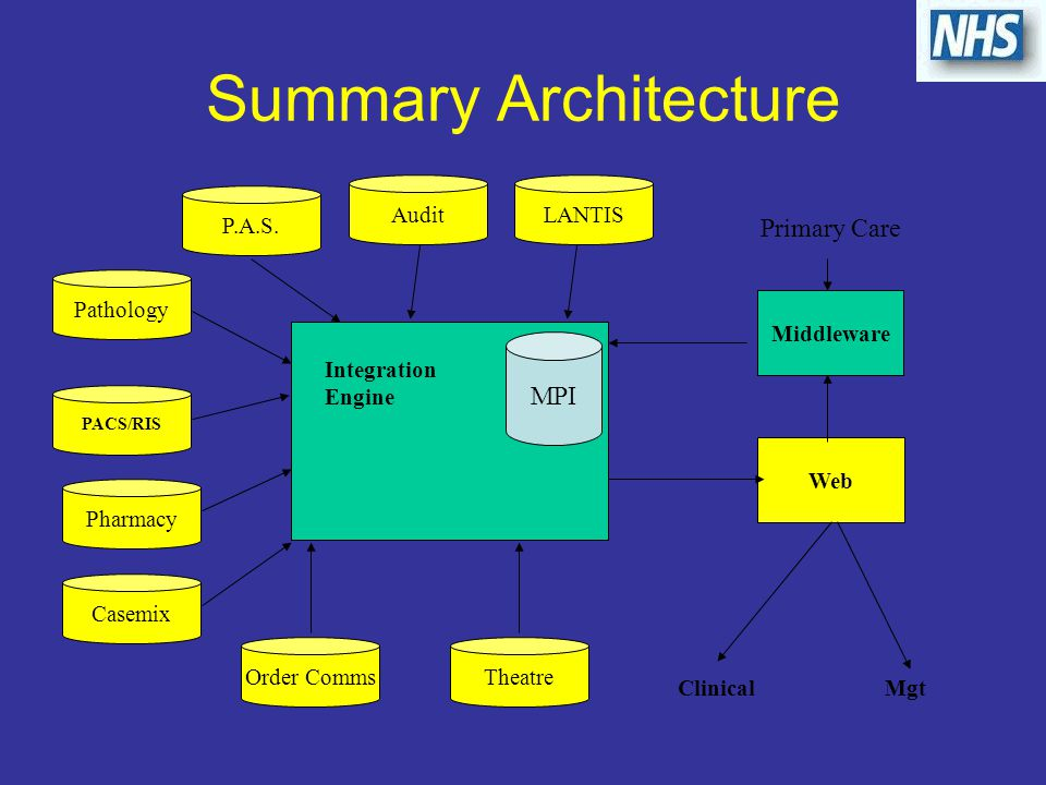 Summary Architecture P.A.S.