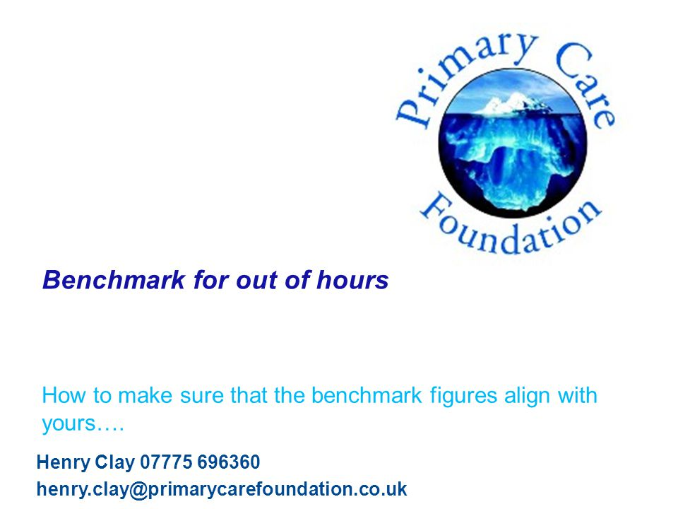 © Primary Care Foundation Agenda – and thank you.