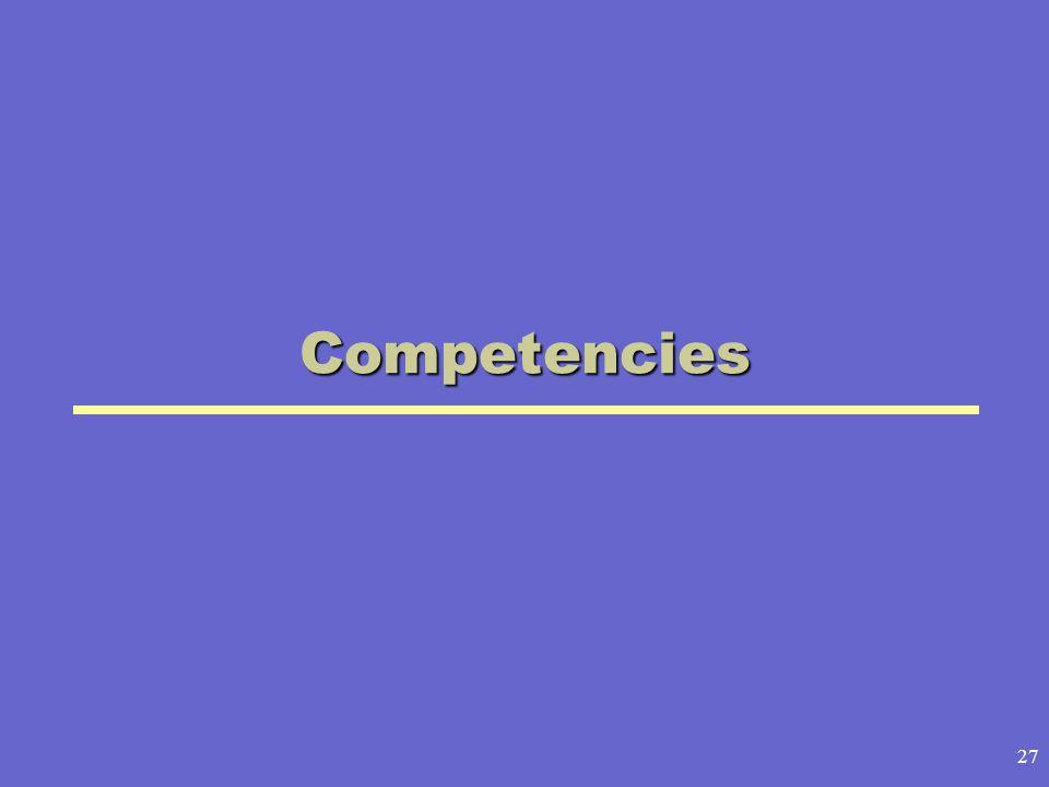 27 Competencies
