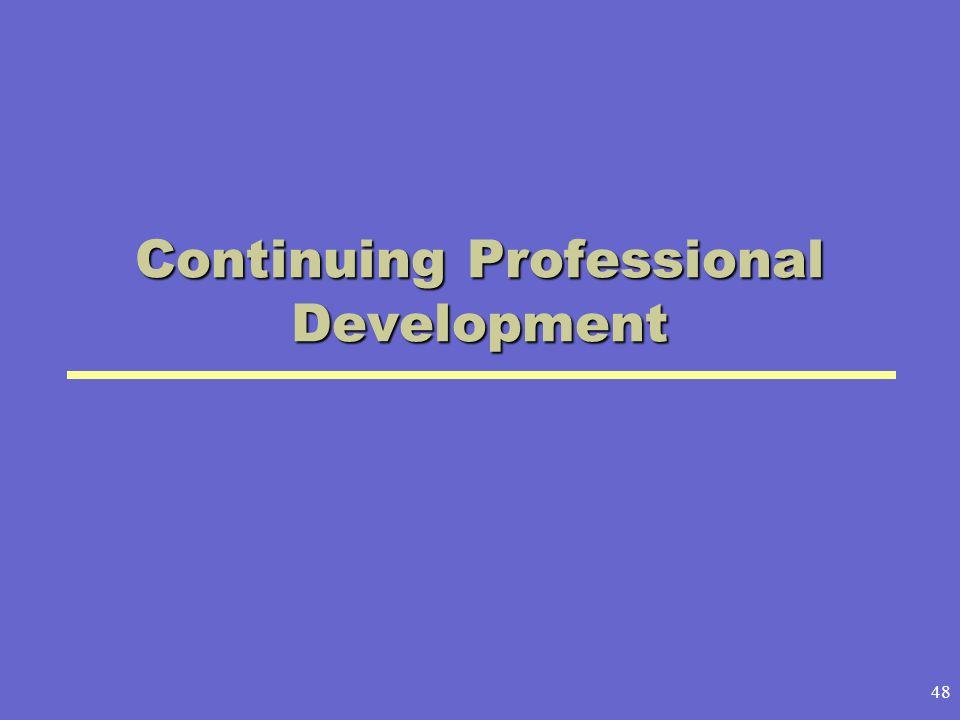 48 Continuing Professional Development