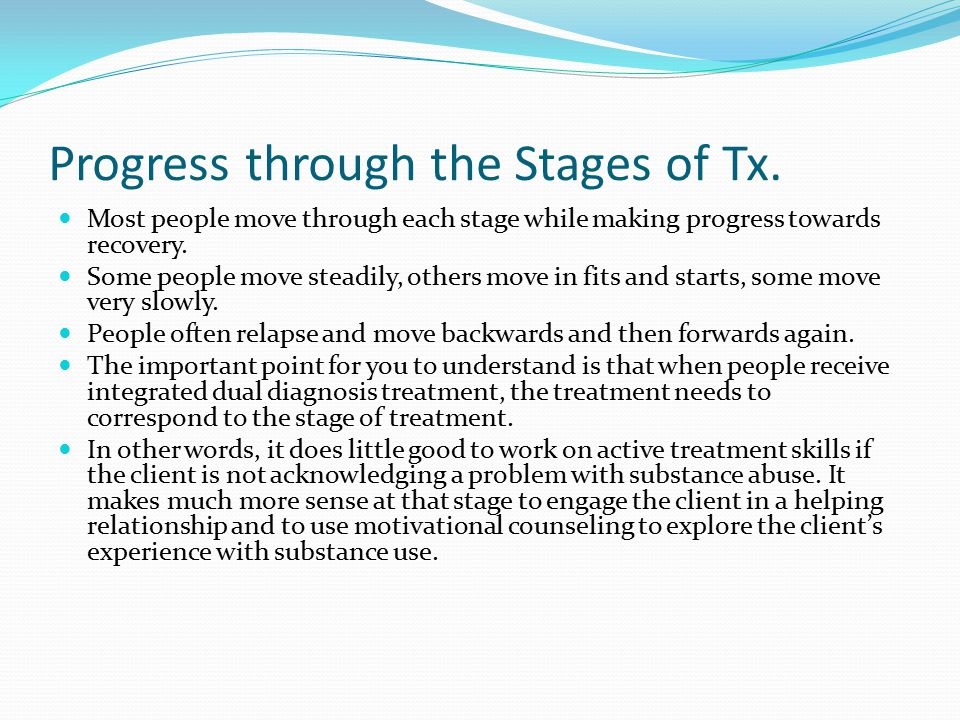 Progress through the Stages of Tx.
