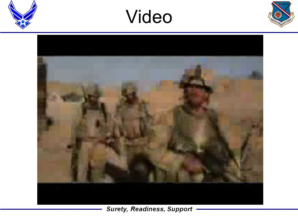 Surety, Readiness, Support Video