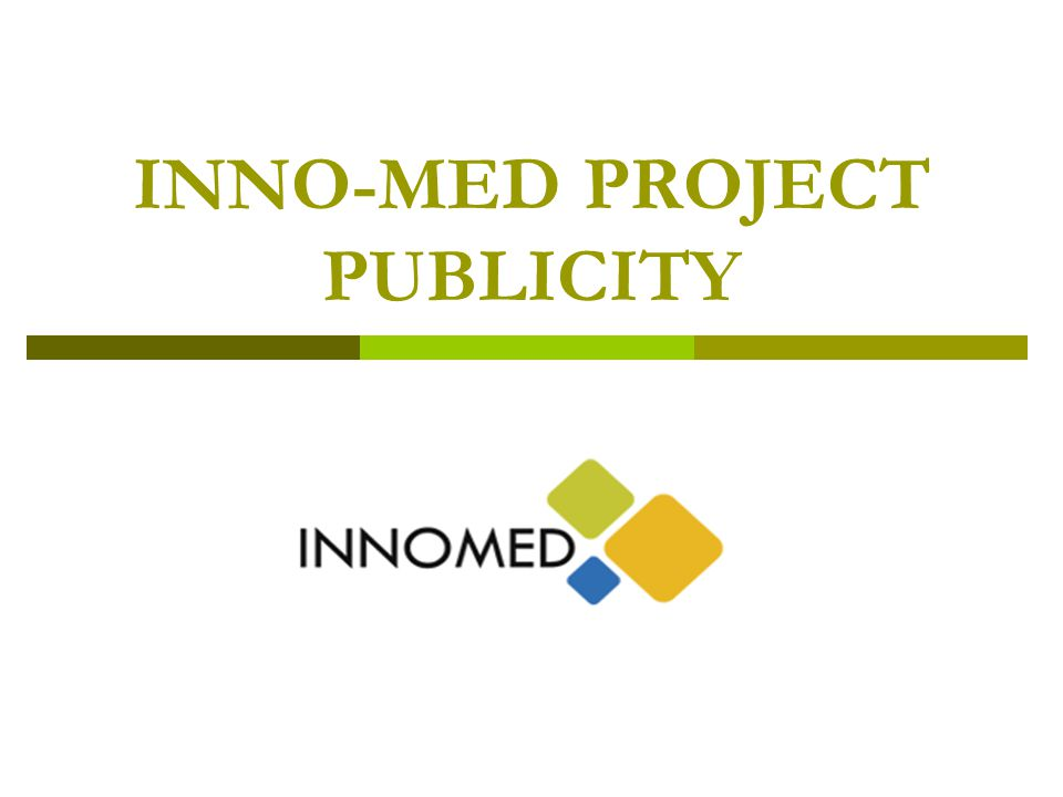 INNO-MED PROJECT PUBLICITY