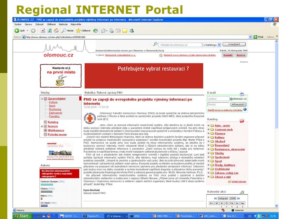 20 Regional INTERNET Portal
