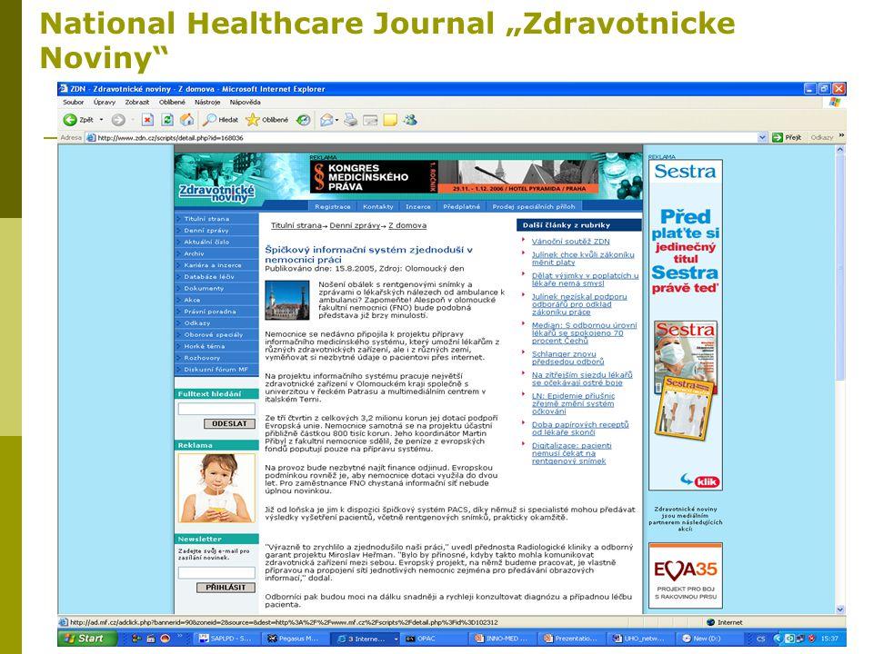 "21 National Healthcare Journal ""Zdravotnicke Noviny"""