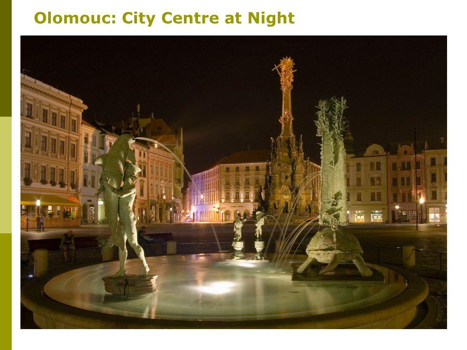 22 Olomouc: City Centre at Night
