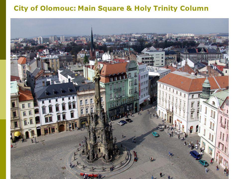 3 City of Olomouc: Main Square & Holy Trinity Column