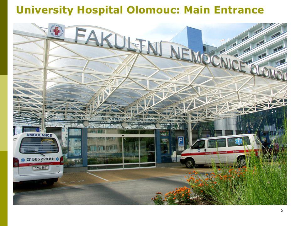 5 University Hospital Olomouc: Main Entrance